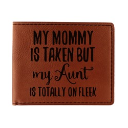 Aunt Quotes and Sayings Leatherette Bifold Wallet - Single Sided (Personalized)