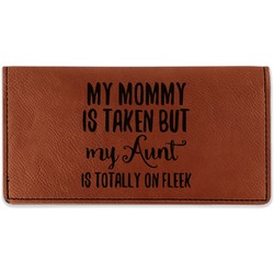 Aunt Quotes and Sayings Leatherette Checkbook Holder - Double Sided (Personalized)