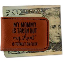 Aunt Quotes and Sayings Leatherette Magnetic Money Clip - Single Sided (Personalized)