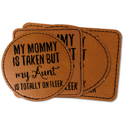 Aunt Quotes and Sayings Faux Leather Iron On Patch