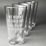 Aunt Quotes and Sayings Beer Glasses (Set of 4) (Personalized)