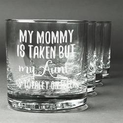 Aunt Quotes and Sayings Whiskey Glasses (Set of 4) (Personalized)