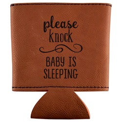 Baby Quotes Leatherette Can Sleeve (Personalized)
