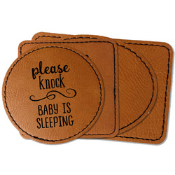 Baby Quotes Faux Leather Iron On Patch