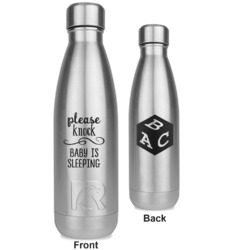 Baby Quotes RTIC Bottle - Silver - Engraved Front & Back (Personalized)