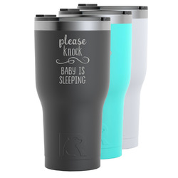 Baby Quotes RTIC Tumbler - Black (Personalized)