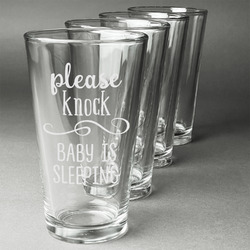 Baby Quotes Beer Glasses (Set of 4) (Personalized)
