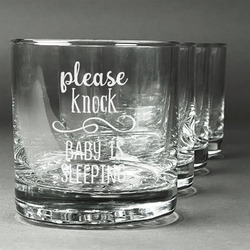 Baby Quotes Whiskey Glasses (Set of 4) (Personalized)