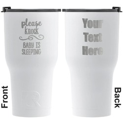 Baby Quotes RTIC Tumbler - White - Engraved Front & Back (Personalized)