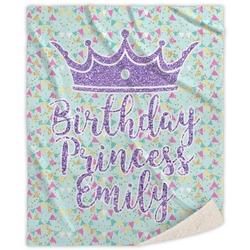 Birthday Princess Sherpa Throw Blanket (Personalized)