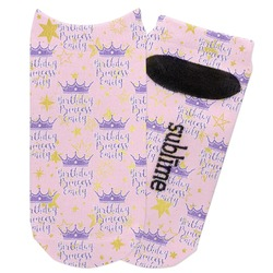 Birthday Princess Adult Ankle Socks (Personalized)