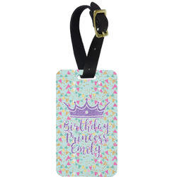 Birthday Princess Metal Luggage Tag w/ Name or Text