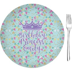 "Birthday Princess 8"" Glass Appetizer / Dessert Plates - Single or Set (Personalized)"