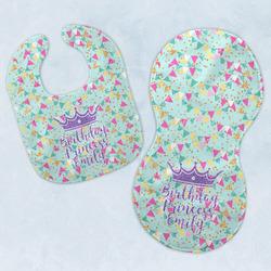 Birthday Princess Baby Bib & Burp Set w/ Name or Text