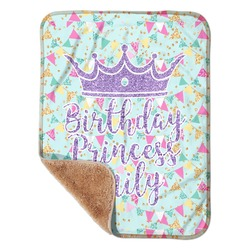 "Birthday Princess Sherpa Baby Blanket 30"" x 40"" (Personalized)"
