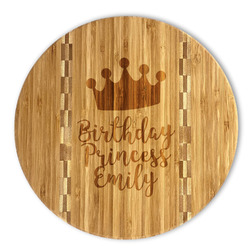 Birthday Princess Bamboo Cutting Board (Personalized)