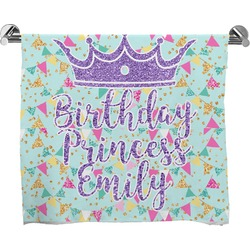 Birthday Princess Full Print Bath Towel (Personalized)