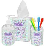 Birthday Princess Acrylic Bathroom Accessories Set w/ Name or Text