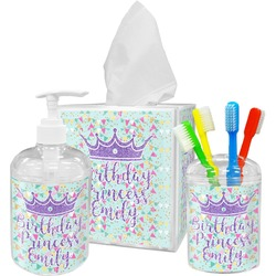 Birthday Princess Bathroom Accessories Set (Personalized)