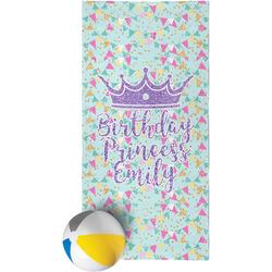 Birthday Princess Beach Towel (Personalized)