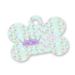 Birthday Princess Bone Shaped Dog Tag (Personalized)