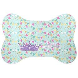 Birthday Princess Bone Shaped Dog Food Mat (Personalized)