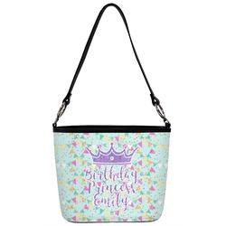 Birthday Princess Bucket Bag w/ Genuine Leather Trim (Personalized)