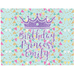 Birthday Princess Woven Fabric Placemat - Twill w/ Name or Text