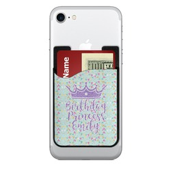 Birthday Princess 2-in-1 Cell Phone Credit Card Holder & Screen Cleaner (Personalized)