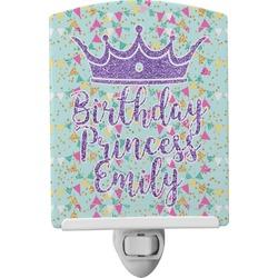 Birthday Princess Ceramic Night Light (Personalized)