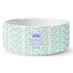 Birthday Princess Ceramic Pet Bowl (Personalized)