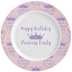 Birthday Princess Ceramic Dinner Plates (Set of 4) (Personalized)