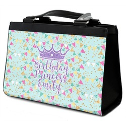 Birthday Princess Classic Tote Purse w/ Leather Trim (Personalized)