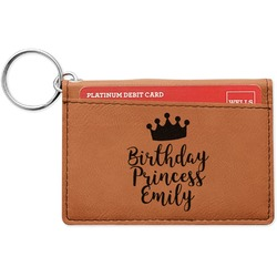 Birthday Princess Leatherette Keychain ID Holder (Personalized)