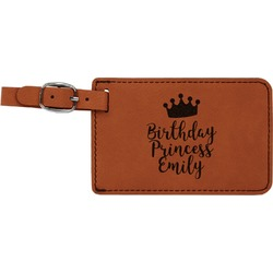 Birthday Princess Leatherette Luggage Tag (Personalized)