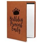Birthday Princess Leatherette Portfolio with Notepad (Personalized)