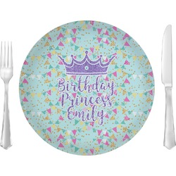 """Birthday Princess 10"""" Glass Lunch / Dinner Plates - Single or Set (Personalized)"""