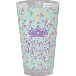 Birthday Princess Drinking / Pint Glass (Personalized)