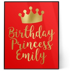 Birthday Princess 8x10 Foil Wall Art - Red (Personalized)