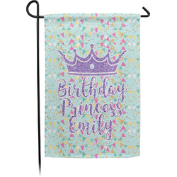 Birthday Princess Single Sided Garden Flag (Personalized)
