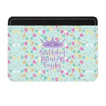 Birthday Princess Genuine Leather Front Pocket Wallet (Personalized)