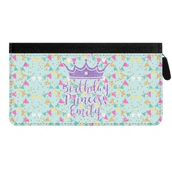 Birthday Princess Genuine Leather Ladies Zippered Wallet (Personalized)