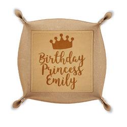 Birthday Princess Genuine Leather Valet Tray (Personalized)