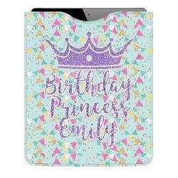 Birthday Princess Genuine Leather iPad Sleeve (Personalized)