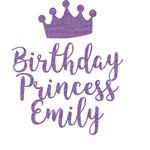 Birthday Princess Glitter Sticker Decal - Custom Sized (Personalized)