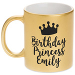 Birthday Princess Gold Mug (Personalized)
