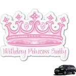 Birthday Princess Graphic Car Decal (Personalized)