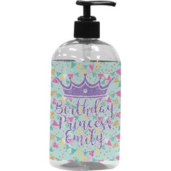 Birthday Princess Plastic Soap / Lotion Dispenser (Personalized)