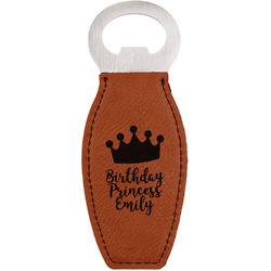 Birthday Princess Leatherette Bottle Opener (Personalized)