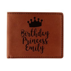 Birthday Princess Leatherette Bifold Wallet (Personalized)
